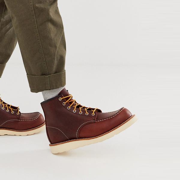 靴 シューズ Red Wing レッドウィング asos ASOS エイソス メンズ ブライヤー 油膜 レザー クラシック 6インチ MOCブーツ 大きいサイズ インポート エクストリームスーパースキニーフィット スウェットパンツ ジーンズ ジーパン 20代 30代 40代 ファッション コーディネート