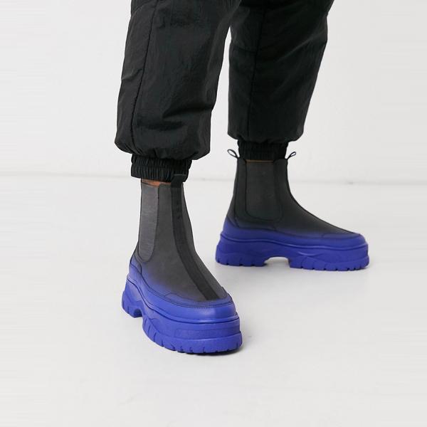 靴 シューズ asos ASOS エイソス メンズ ASOS DESIGN グレー フェイクスエード 共同 ORD チェルシー トレーナーブーツ 大きいサイズ インポート エクストリームスーパースキニーフィット スウェットパンツ ジーンズ ジーパン 20代 30代 40代 ファッション コーディネート