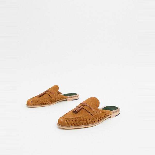 靴 シューズ ASOSセレクト House of Hounds asos ASOS エイソス メンズ 太陽 織り ローファー タン スエード 大きいサイズ インポート エクストリームスーパースキニーフィット スウェットパンツ ジーンズ ジーパン 20代 30代 40代 ファッション コーディネート