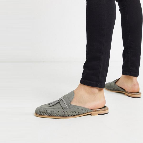 靴 シューズ ASOSセレクト House of Hounds asos ASOS エイソス メンズ 太陽 織ら ローファー グレー スエード 大きいサイズ インポート エクストリームスーパースキニーフィット スウェットパンツ ジーンズ ジーパン 20代 30代 40代 ファッション コーディネート