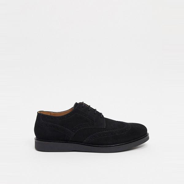 靴 シューズ ASOSセレクト Hudson London asos ASOS エイソス メンズ H by Hudson ブラック スエード calverston brogues 大きいサイズ インポート エクストリームスーパースキニーフィット スウェットパンツ ジーンズ ジーパン 20代 30代 40代 ファッション コーディネート