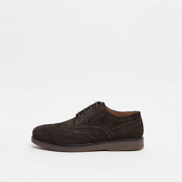 靴 シューズ ASOSセレクト Hudson London asos ASOS エイソス メンズ H by Hudson 茶色 スエード calverston brogues 大きいサイズ インポート エクストリームスーパースキニーフィット スウェットパンツ ジーンズ ジーパン 20代 30代 40代 ファッション コーディネート