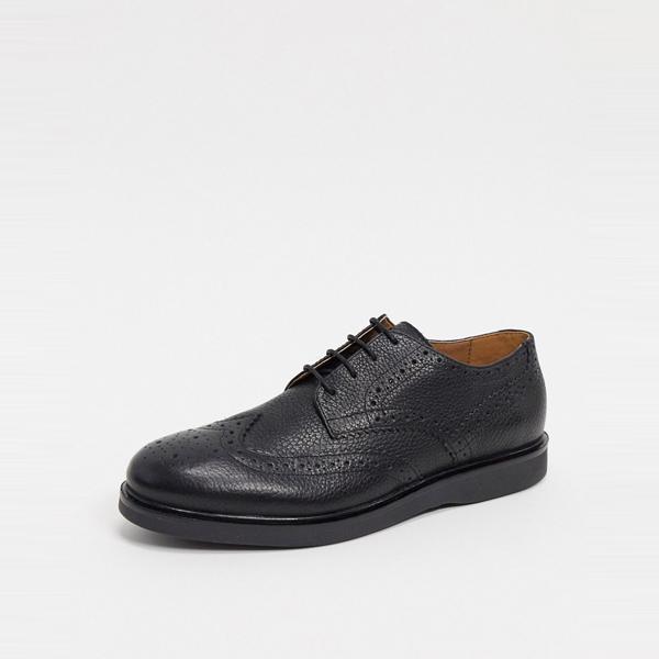 靴 シューズ ASOSセレクト Hudson London asos ASOS エイソス メンズ H by Hudson ブラック革 calverston brogues 大きいサイズ インポート エクストリームスーパースキニーフィット スウェットパンツ ジーンズ ジーパン 20代 30代 40代 ファッション コーディネート