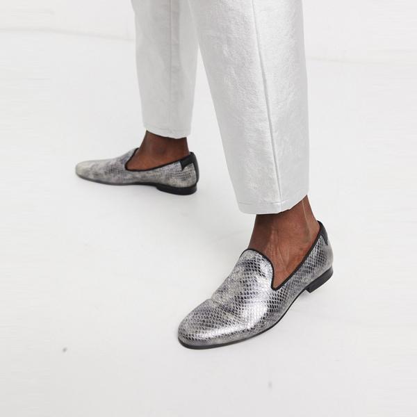 靴 シューズ ASOSセレクト Twisted Tailor asos ASOS エイソス メンズ フェイクスネーク ローファー シャンパン 大きいサイズ インポート エクストリームスーパースキニーフィット スウェットパンツ ジーンズ ジーパン 20代 30代 40代 ファッション コーディネート