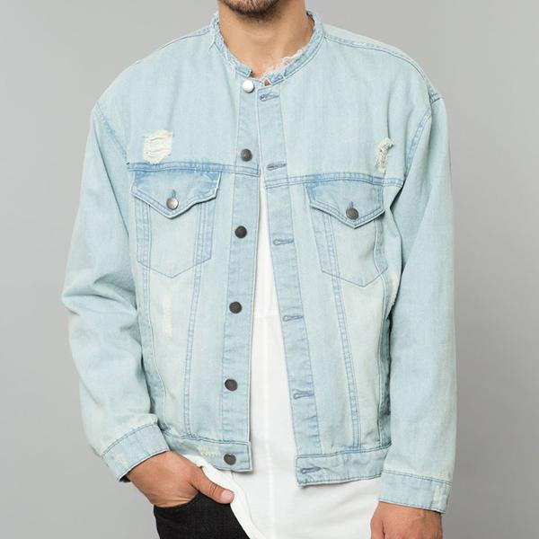 ELWOOD(エルウッド) メンズ アウター デニムジャケット Gジャン ジャケット ダメージ オーバーサイズ デニム メンズ 大きいサイズ インポート リゾート ストリート ファッション 日本未入荷 インスタ映え フェス 野外 男性 20代 30代 40代