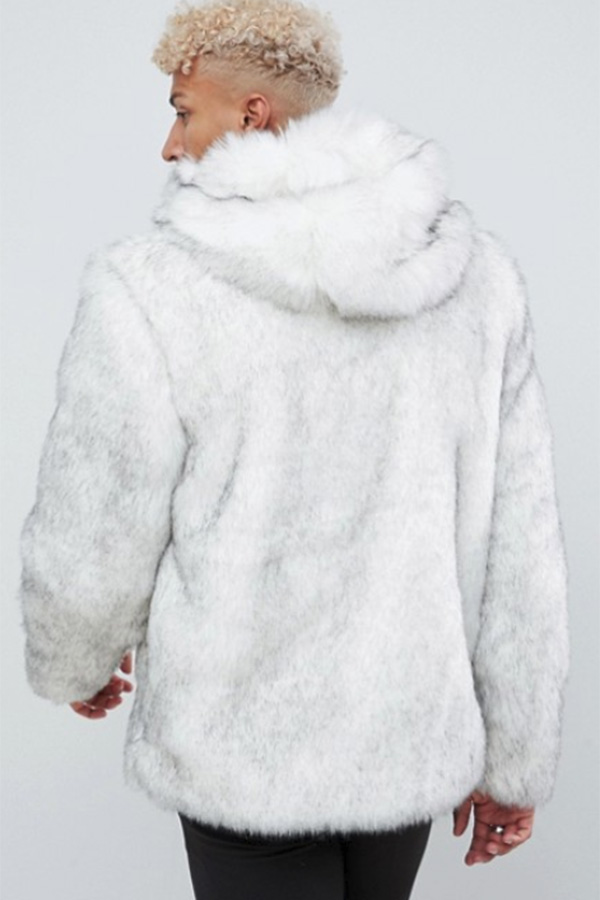 フェイクファー ジャケット フード ファージャケット ファーコート メンズ アウター 長袖 セレブ 大きいサイズASOS エイソス20代 30代 40代 ファッション コーディネート オシャレ カジュアル edm フェス ファッション アウターf7gm6IbvYy