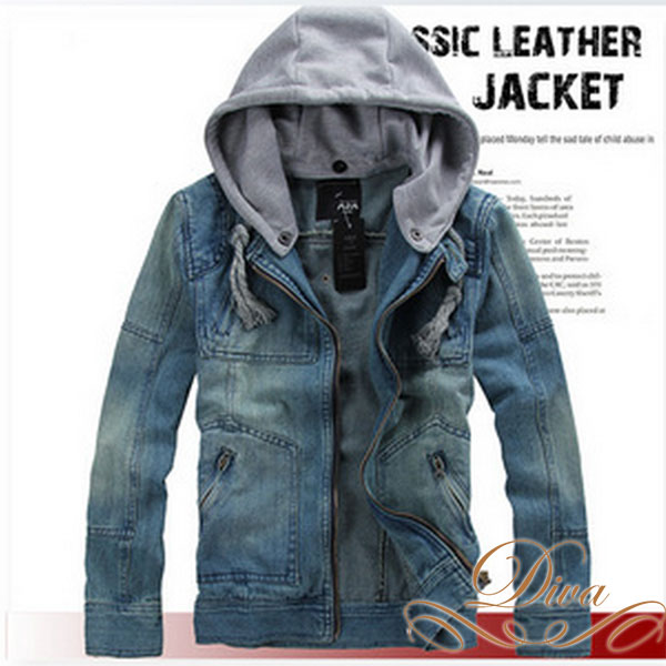 Diva Closet | Rakuten Global Market: Denim Jacket [Hooded] [Menu0027s Long  Sleeve] [Celebrity Tops] [Celebrity Fashion] [Large] [ASOS] [Blue]