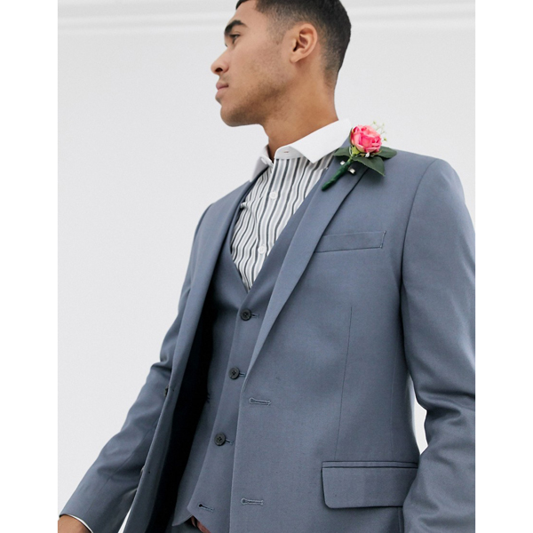 スーツ ジャケット asos ASOS エイソス メンズ ASOS DESIGN スレート グレー スキニー スーツ ジャケット 大きいサイズ インポート エクストリームスーパースキニーフィット スウェットパンツ ジーンズ ジーパン 20代 30代 40代 ファッション コーディネート