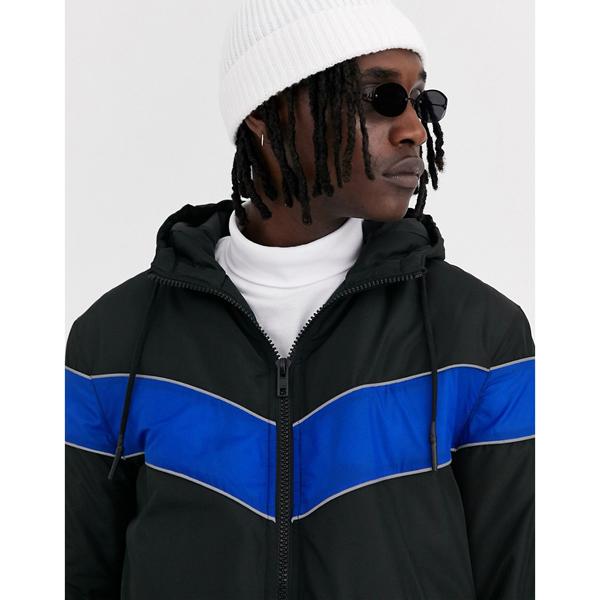 asos ASOS エイソス メンズ ASOS DESIGN ブルー色 パネル ブラック ウインドブレーカー ジャケット 大きいサイズ インポート エクストリームスーパースキニーフィット スウェットパンツ ジーンズ ジーパン 20代 30代 40代 ファッション コーディネート