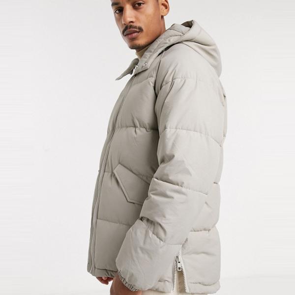 asos ASOS エイソス メンズ ASOS DESIGN 石 サイドジップ ディテール パファー フード付き ジャケット 大きいサイズ インポート エクストリームスーパースキニーフィット スウェットパンツ ジーンズ ジーパン 20代 30代 40代 ファッション コーディネート