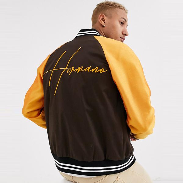 ASOSセレクト Hermano asos ASOS エイソス メンズ Hermano オレンジ色 ボンバー ジャケット 大きいサイズ インポート エクストリームスーパースキニーフィット スウェットパンツ ジーンズ ジーパン 20代 30代 40代 ファッション コーディネート