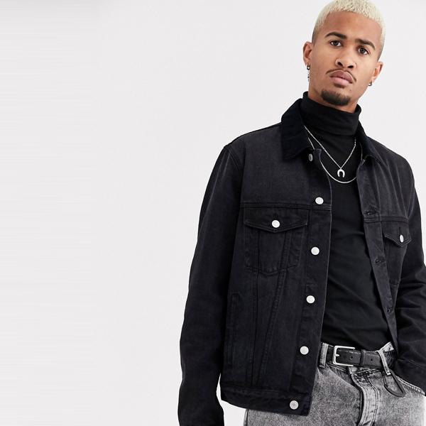ASOSセレクト Topman asos ASOS エイソス メンズ Topman ブラック コード 襟付き デニム ジャケット 大きいサイズ インポート エクストリームスーパースキニーフィット スウェットパンツ ジーンズ ジーパン 20代 30代 40代 ファッション コーディネート