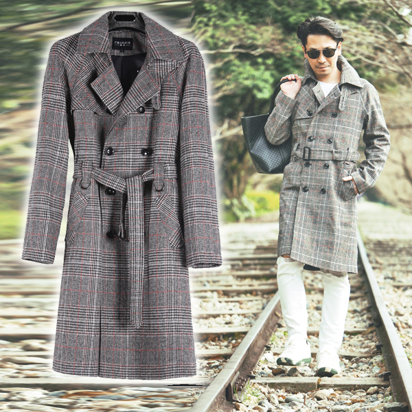 Divacloset Size S 40XL Which Outer Coat In Studio Shines In Mesmerizing Mens Trench Coat Pattern