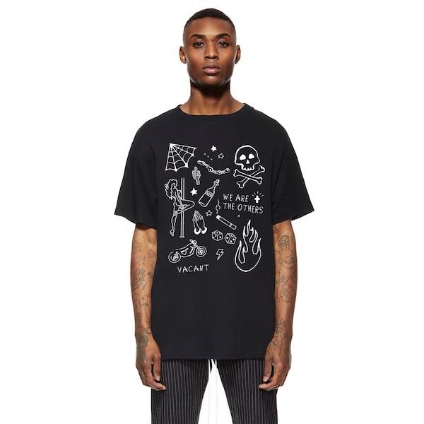 Other UK(アザーユーケー)メンズ トップス ハーフスリーブ Tシャツ 半袖 グラフィック プリント クルーネック オーバーサイズ 20代 30代 40代 ファッション コーディネート 大きいサイズ オシャレ トレンド インポート アウトフィット