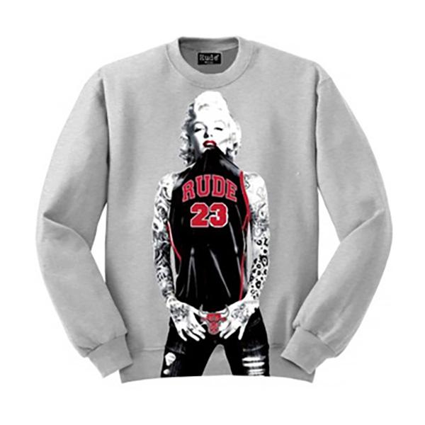 RUDE(ルード)タトゥー レーナー スウェット 長袖 黒 ブラック 20代 30代 40代 ファッション コーディネート 大きいサイズ 日本未入荷 インポート メンズ カジュアル ユニセックス メンズ レディース S M L XL divacloset edm フェス プリント Tシャツ フォトプリント
