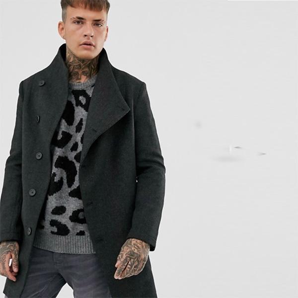 ASOSセレクト Religion メンズ トップス オーバーコートジャケット ブラックグレー レギュラーフィット クルーネック 20代 30代 40代 ファッション コーディネート XS~XL オシャレ トレンド 長袖 インポート トレンド