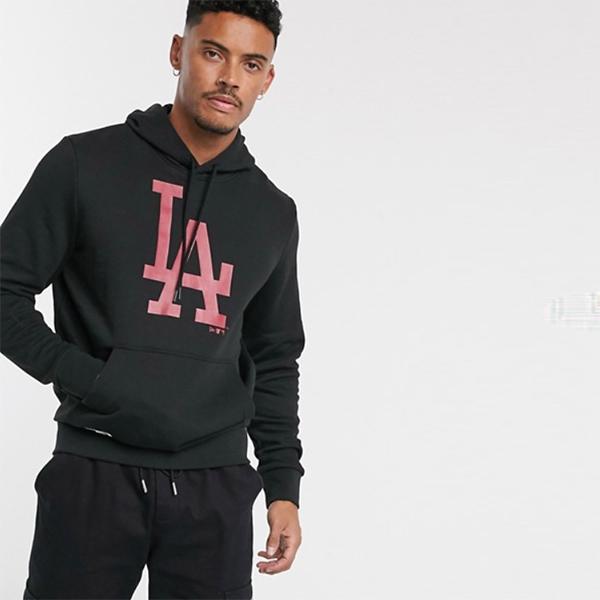 New Era ニューエラ MLB ロサンゼルス ドジャース パーカー ブラック トップス 20代 30代 40代 ファッション コーディネート オシャレ カジュアル