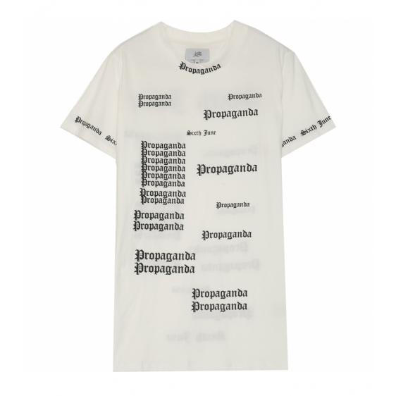 日本未入荷 Sixth June(シックススジューン)ゴシック プロパガンダ tシャツ ホワイト  20代 30代 40代 ファッション コーディネート オシャレ カジュアル