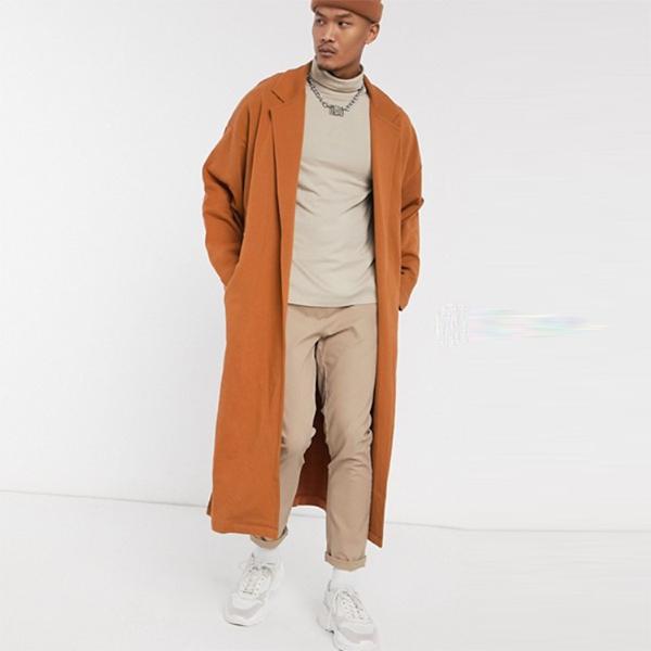 ASOS DESIGN エクストリーム オーバーサイズ ジャージー ダスター ジャケット(ブラウン) アウター 20代 30代 40代 ファッション コーディネート オシャレ カジュアル