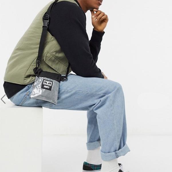 Obey Conditions II サイド ポーチ ブラック 鞄 メンズ  20代 30代 40代 インポート ブランド