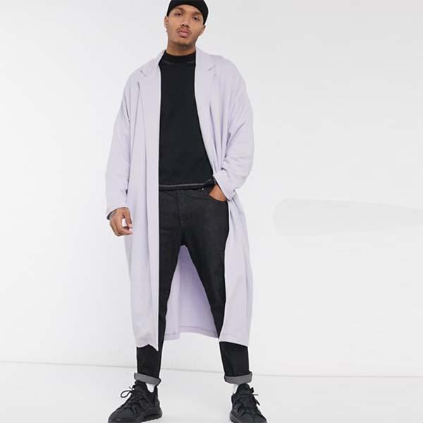 ASOS DESIGN ライラック エクストリーム オーバーサイズ ジャージー ダスター ジャケット 長袖 20代 30代 40代 ファッション コーディネート オシャレ カジュアル