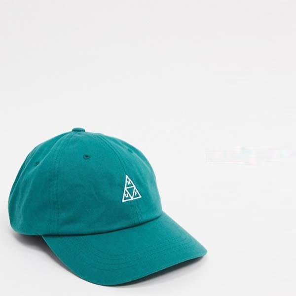 緑のHUF Essentials Tt Cv Hat 帽子 20代 30代 40代 ファッション コーディネート オシャレ カジュアル