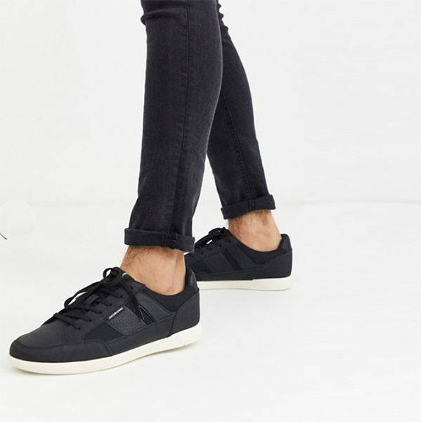 黒 メッシュ インサート付き ジャック&ジョーンズ トレーナー 靴 シューズ インポート 20代 30代 40代 インポート ブランド