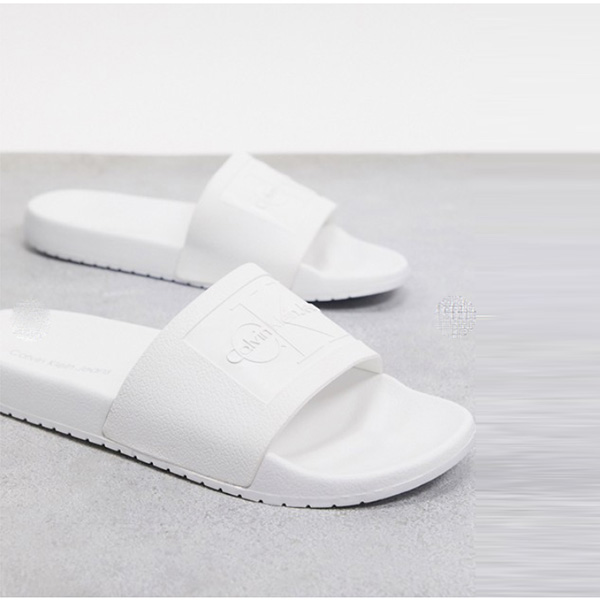 Calvin Klein vincenzo スライダー white サンダル 靴 シューズ  インポートブランド 大人カジュアル 30代 40代 20代