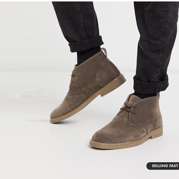 タン ニュールック フェイク スエード デザート ブーツ 靴 シューズ  インポートブランド 大人カジュアル 30代 40代 20代
