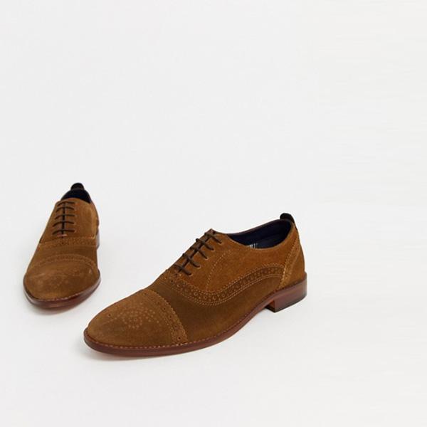 タン スエード ベース ロンドン キャスト ブローグ 靴 インポート 大きいサイズ 20代 30代 40代