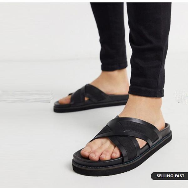 Walk London 黒 ロンドン ジョージ サンダル サンダル 靴 インポート 大きいサイズ 20代 30代 40代