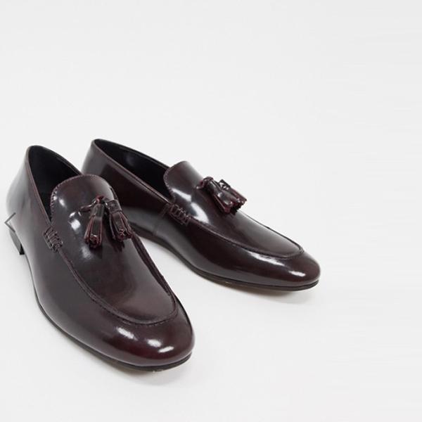 H by Hudson bolton タッセル ローファー in hi shine burgundy 靴 20代 30代 40代 ファッション コーディネート小さいサイズから大きいサイズまで オシャレ トレンド インポート トレンド