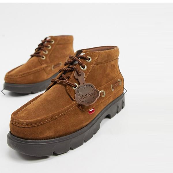 キッカーズ レノンブーツ ブラウン スエード 靴 メンズ インポート