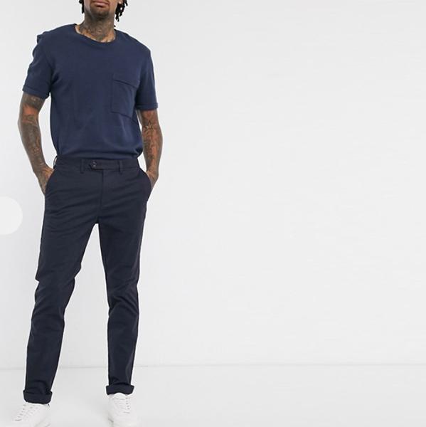 Ted Bake rスリム フィット チノ パンツ(ネイビー) コーディネート インポート 大きいサイズ20代 30代 40代 ファッション コーディネート