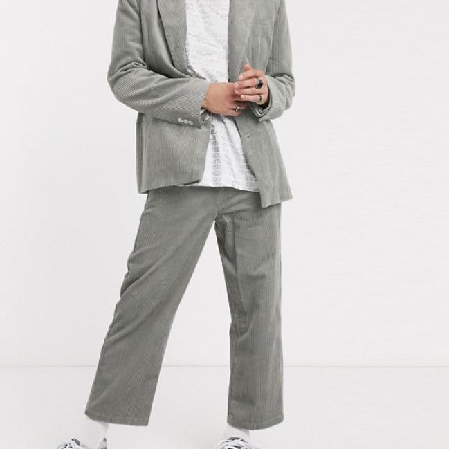 COLLUSION スケーター コード パンツ(グレー) 20代 30代 40代 ファッション小さいサイズから大きいサイズまで オシャレ トレンド インポート トレンド