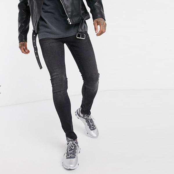 洗浄 黒 ジーンズ トップマン 20代 30代 40代 ファッション コーディネート
