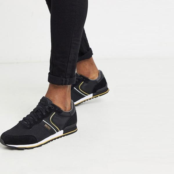 BOSS Parkour ナイロン トレーナー ブラック 靴 インポート ブランド メンズ 20代 30代 40代 ファッション コーディネート