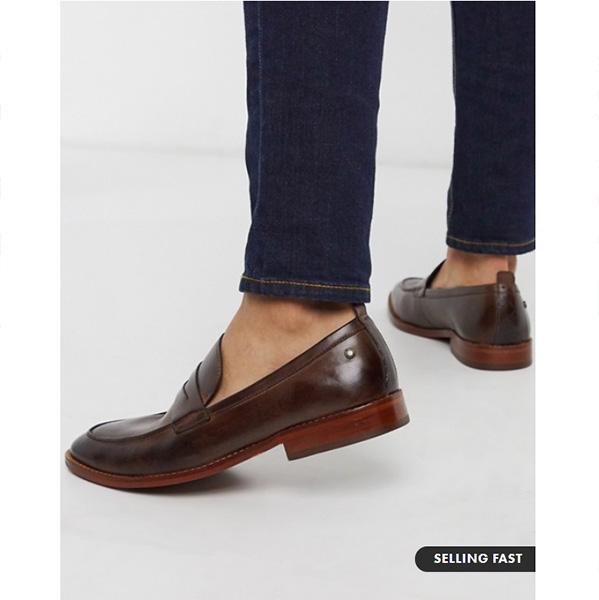 ベース ロンドン レンズペニー ローファー ブラウン レザー 靴 インポート ブランド メンズ 20代 30代 40代 ファッション コーディネート