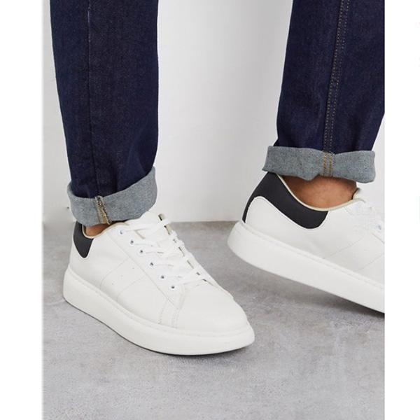 白 チャンキーソール Jack&Jones トレーナー 靴 インポート ブランド メンズ 20代 30代 40代 ファッション コーディネート
