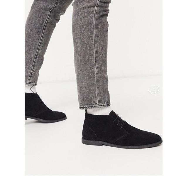 ブラック トップマン デザート ブーツ 靴 インポート ブランド メンズ 20代 30代 40代 ファッション コーディネート