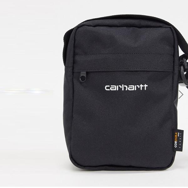 カーハート WIP ペイトン ショルダー ポーチ ブラック 鞄 インポート ブランド メンズ 20代 30代 40代 ファッション コーディネート