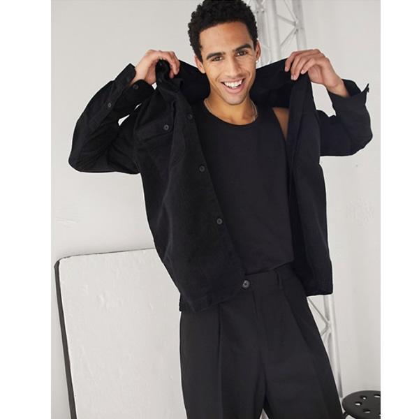 ブラック ウィークデー ダルトン コード オーバーシャ??ツ インポート ブランド メンズ 20代 30代 40代 ファッション コーディネート