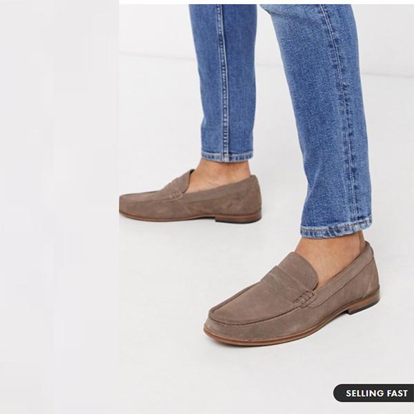 モスロンドン スエード ペニー ローファー 靴 20代 30代 40代 ファッション コーディネート 小さいサイズから大きいサイズまで オシャレ トレンド インポート トレンド