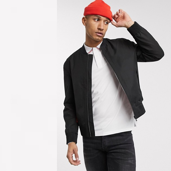 HUGO Bado2021 ブラック ボンバー ジャケット 20代 30代 40代 ファッション コーディネート オシャレ カジュアル
