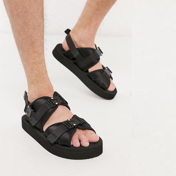 バックル ASOS エイソス サンダル 靴 20代 30代 40代 ファッション コーディネート オシャレ カジュアル