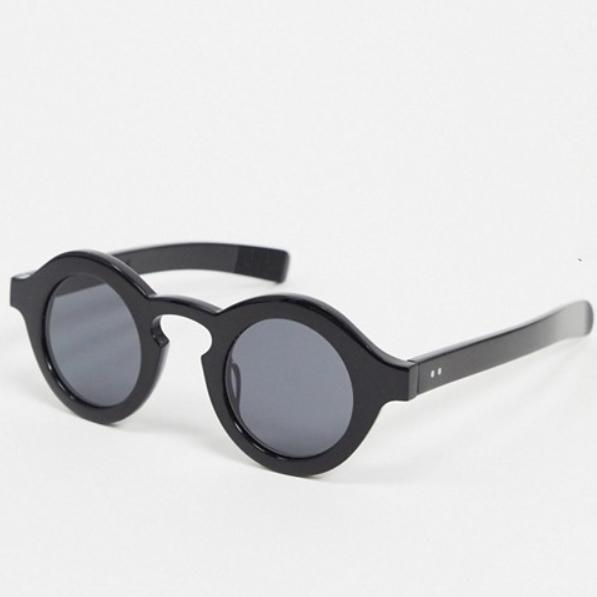 スピット ファイア カット 円形 サングラス(ブラック) 20代 30代 40代 ファッション コーディネート オシャレ カジュアル