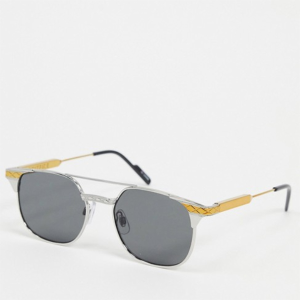 ゴールド シルバー スピット ファイア グリット スクエア サングラス 20代 30代 40代 ファッション コーディネート オシャレ カジュアル