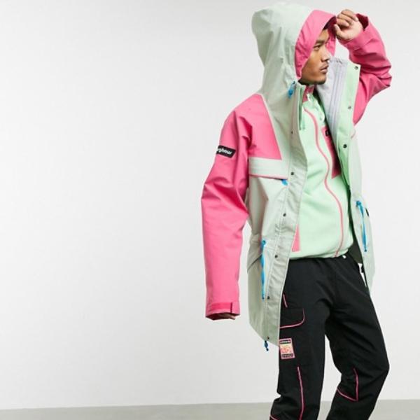 ピンク/グリーン Berghaus Tempest 89 ジャケット 20代 30代 40代 ファッション コーディネート オシャレ カジュアル