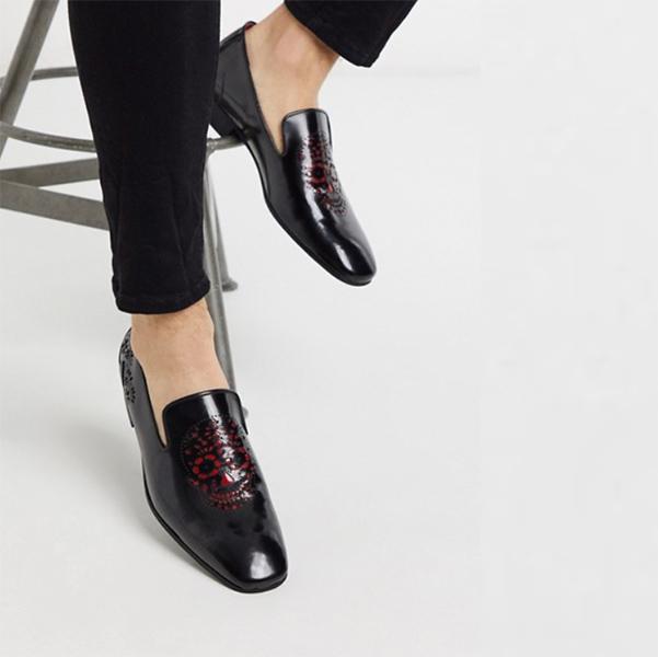 赤 頭蓋骨 ジェフリー ウェスト ジャングル ローファー 靴 20代 30代 40代 ファッション コーディネート小さいサイズから大きいサイズまで オシャレ トレンド インポート トレンド