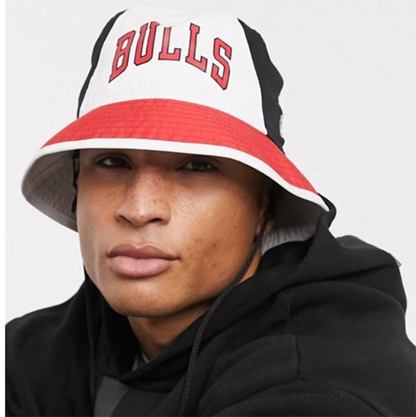 New Era Chicago Bulls バケツ ハット ホワイト メンズ 20代 30代 40代 ファッション コーディネート オシャレ トレンド インポート